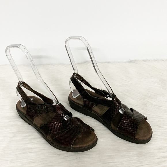 Mephisto Shoes - Mephisto | Brown Strappy Comfort Sandals 38